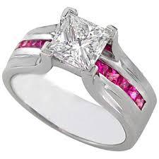 princess cut pink diamond