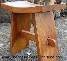 small wood stool