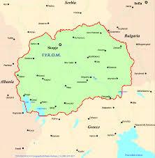 map of fyrom