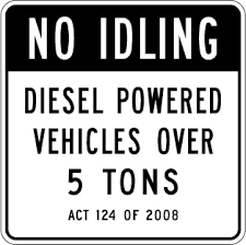 no idling sign