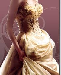 gold bridal dress