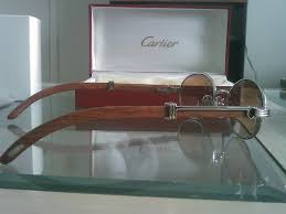 cartier wood glasses