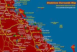 gladstone australia map