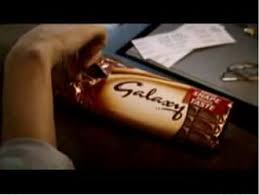 galaxy chocolate advertisement