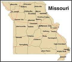 map of the missouri