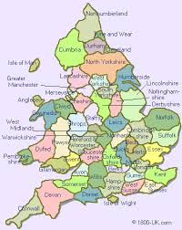 map of wales and england