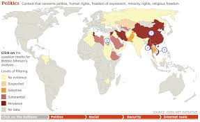 map of internet censorship