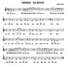 partitura let it be