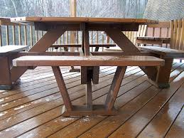 hexagon picnic table plans