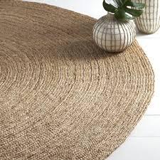 blue circular rug