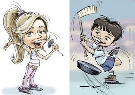 kids caricature