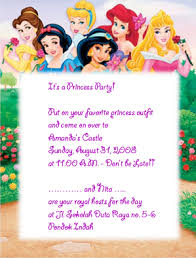 princess invitation cards