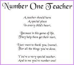 teacher poetry