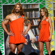dwayne johnson in a dress