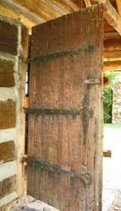 log cabin doors