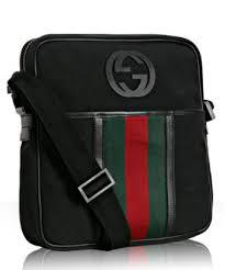 gucci messenger bag black