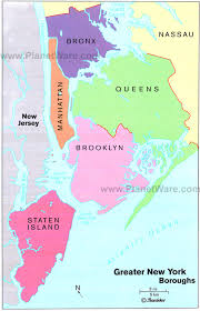 map of boroughs of new york