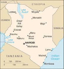 africa map kenya