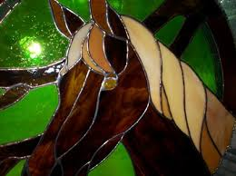 horse stained glass