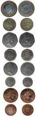 current english coins