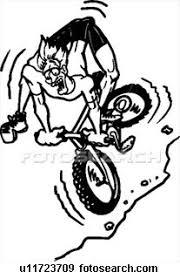 mountain bike cartoon