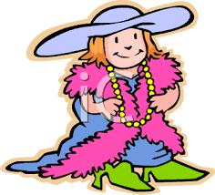 little girls dressing up