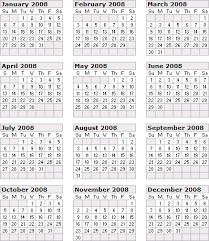 2008 calendar year