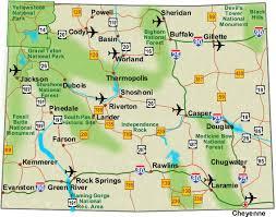 highway map of wyoming