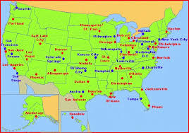 map of usa with capital