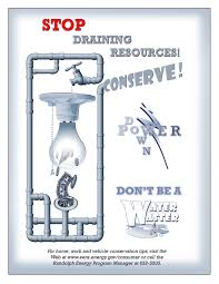energy conservation poster