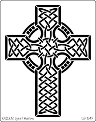 celtic cross stencil