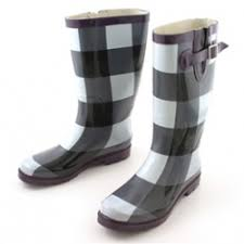 black and white wellies