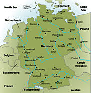 map of castles in germany