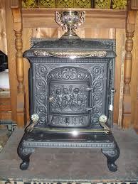 antique wood heater