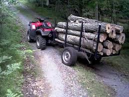 atv logging trailer