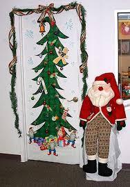 christmas office door decorating