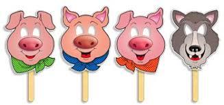 3 little pigs masks