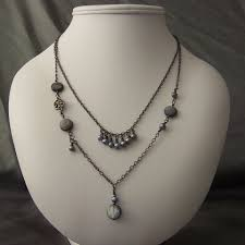 gun metal necklace