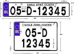 irish registration plate