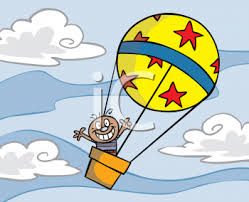 clip art hot air balloon