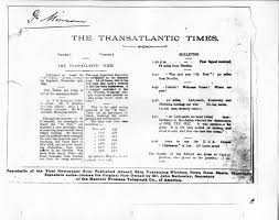 first newspaper