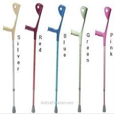 colorful crutches