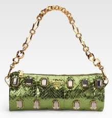 green prada handbag