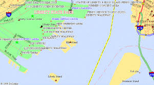 map of liberty island