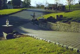 sloped driveway