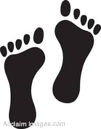 clip art of footprints
