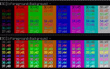 ansi color code