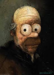 homer simpson painting