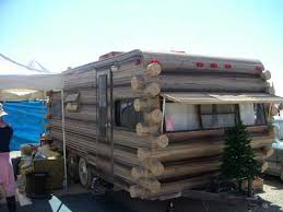 log cabin trailer
