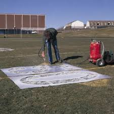 football field stencil